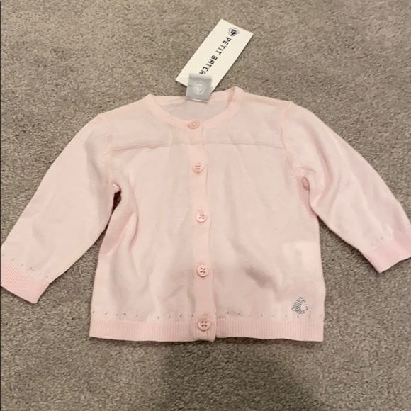 Petit Bateau Cardigan Baby Pink-18 Months